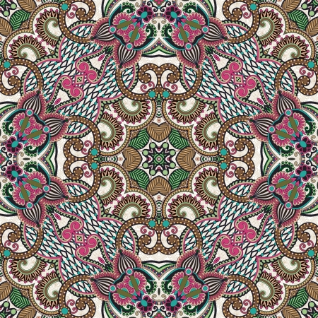 neckerchief: Traditional ornamental floral paisley bandanna. Ornament seamless background . You can use this pattern in the design of carpet, shawl, pillow, cushion