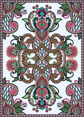 Oekraïense Oosterse Bloemen Ornamental Naadloze Carpet Design