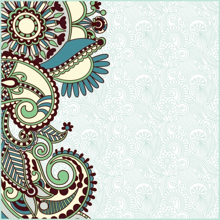 vintage ornamental template  Illustration