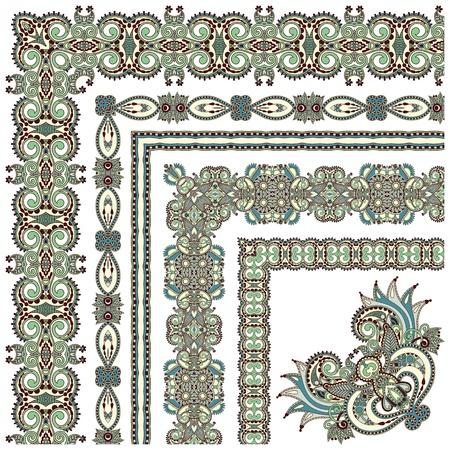 acanthus: floral vintage frame design.All components are easy editable Illustration