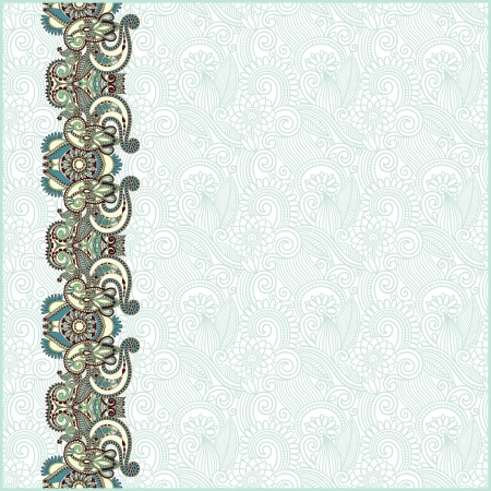 ornamental scroll: ornate floral background with ornament stripe Illustration