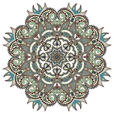 Circle ornament, ornamental round lace Vector