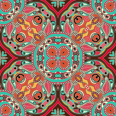 western pattern: Traditional ornamental floral paisley bandanna. Ornament seamless background . You can use this pattern in the design of carpet, shawl, pillow, cushion
