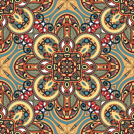 symmetry: Traditional ornamental floral paisley bandanna. Ornament seamless background . You can use this pattern in the design of carpet, shawl, pillow, cushion