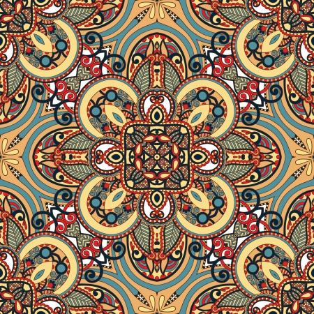 Traditionele sier bloemen paisley bandana. Ornament naadloze achtergrond. U kunt dit patroon in het ontwerp van tapijt, sjaal, kussen, kussen