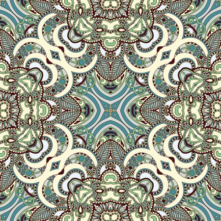 Traditional ornamental floral paisley bandanna. Ornament seamless background . You can use this pattern in the design of carpet, shawl, pillow, cushion Stock Vector - 15552412