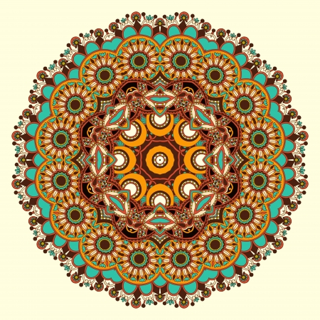 Circle ornament, sier-ronde kant