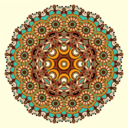 Ornamento del círculo, el encaje redondo ornamental