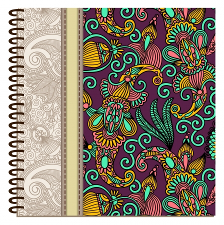 design of spiral ornamental notebook cover Stock Vector - 15552382