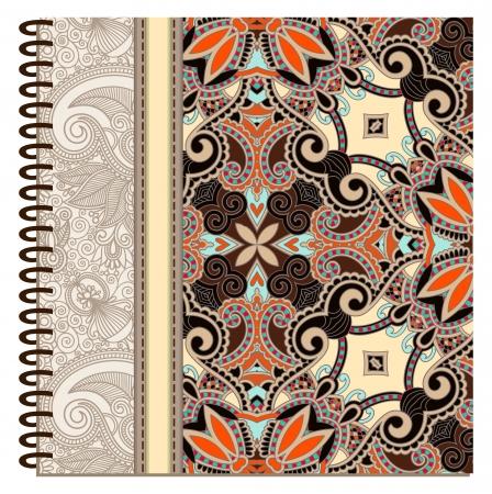diseño de la cubierta de cuaderno de espiral ornamental