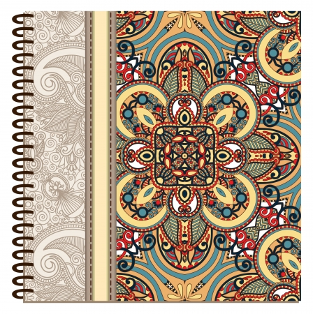 design of spiral ornamental notebook cover Stock Vector - 15552400