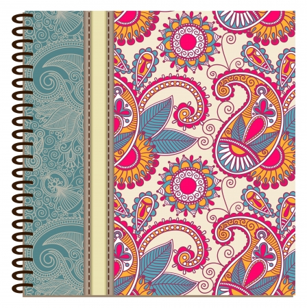 notebook cover: design of spiral ornamental notebook cover Illustration