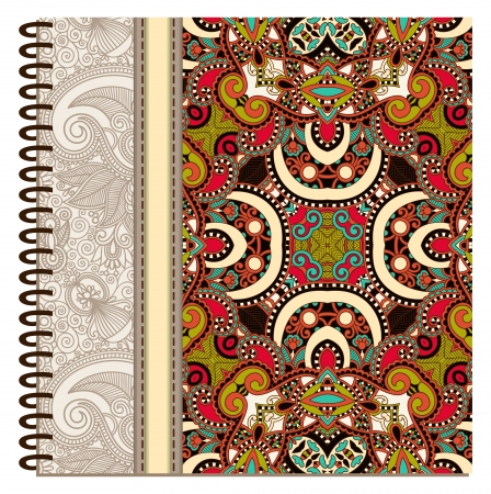 notebook cover: design of spiral ornamental notebook cover Illustration