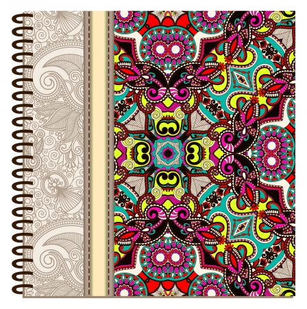 design of spiral ornamental notebook cover Stock Vector - 15552414