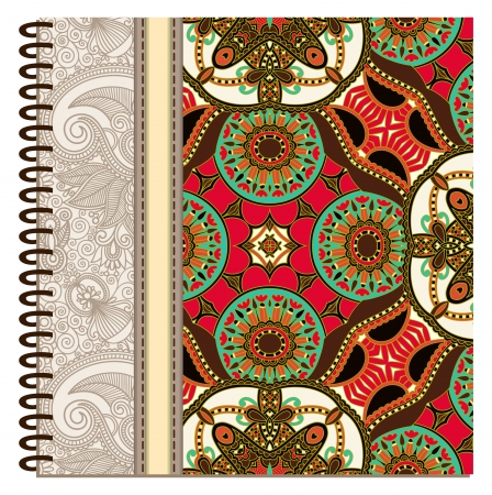 design of spiral ornamental notebook cover Stock Vector - 15555297