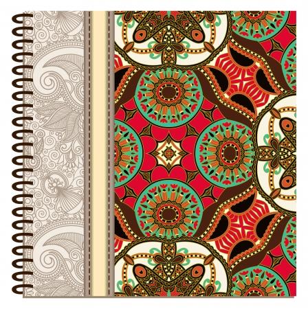 design of spiral ornamental notebook cover Stock Vector - 15555297
