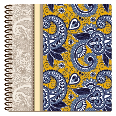 design of spiral ornamental notebook cover Stock Vector - 15555291