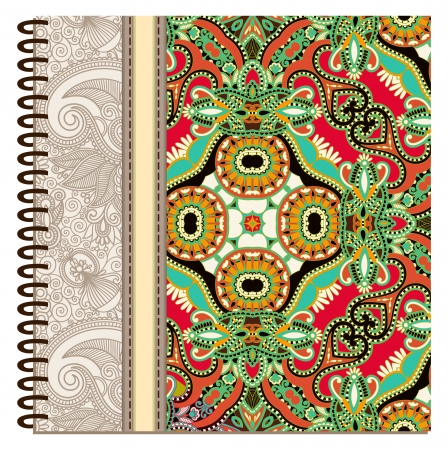 design of spiral ornamental notebook cover Stock Vector - 15555321