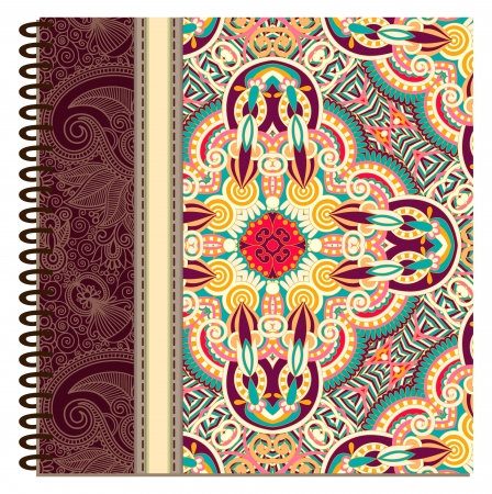 design of spiral ornamental notebook cover Stock Vector - 15555302