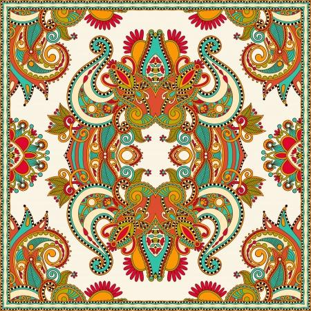 osmanisch: Traditionelle dekorative florale Paisleybandana Illustration