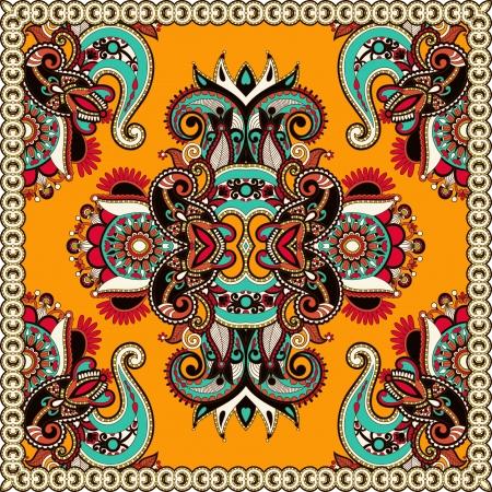 Traditionele sier bloemen Paisley bandana Vector Illustratie