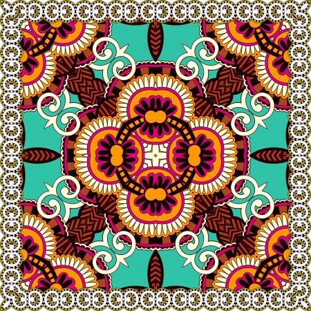 floral carpet: Traditional ornamental floral paisley bandanna