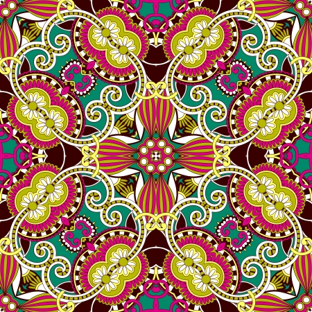 symmetry: Traditional ornamental floral paisley bandanna