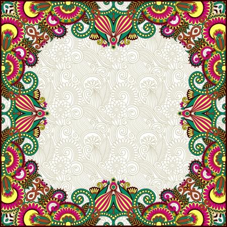 art product: floral vintage frame