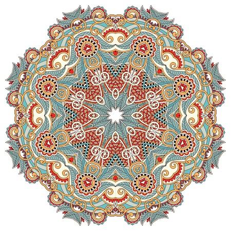 Circle flower ornament, ornamental round lace design Stock Vector - 15555335
