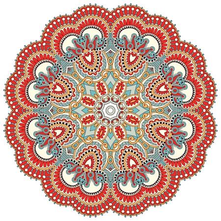 曼陀羅: 円花飾り, 装飾的なレースのデザインをラウンドします。