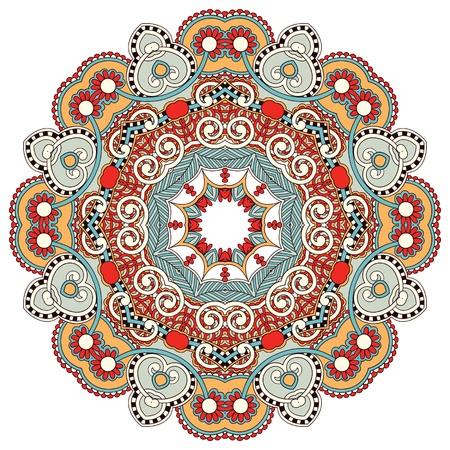 Circle flower ornament, ornamental round lace design Stock Vector - 15555304