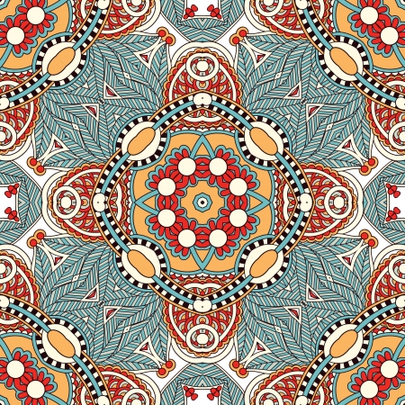 western wear: Traditional ornamental floral paisley bandanna. You can use this pattern in the design of carpet, shawl, pillow, cushion Illustration