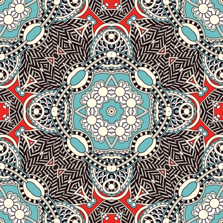 neck wear: Traditional ornamental floral paisley bandanna. You can use this pattern in the design of carpet, shawl, pillow, cushion Illustration