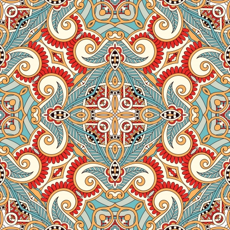 ottoman fabric: Traditional ornamental floral paisley bandanna. You can use this pattern in the design of carpet, shawl, pillow, cushion Illustration
