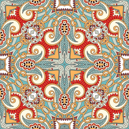 Traditional ornamental floral paisley bandanna. You can use this pattern in the design of carpet, shawl, pillow, cushion Stock Vector - 15556089