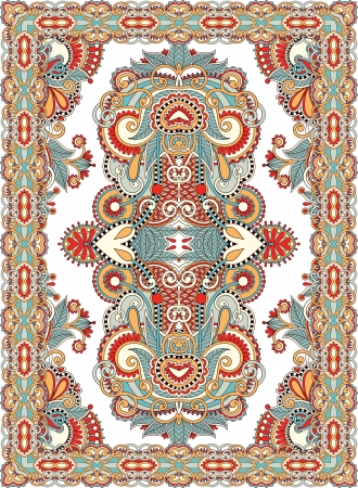 wool rugs: Ukrainian Oriental Floral Ornamental Seamless Carpet Design