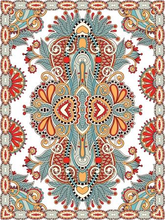 rug: Ukrainian Oriental Floral Ornamental Seamless Carpet Design
