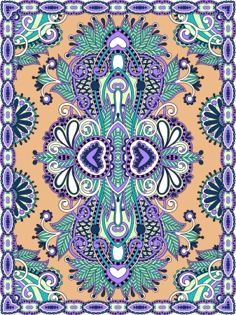Ukrainian Oriental Floral Ornamental Seamless Carpet Design Stock Vector - 15556155