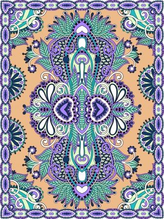 Ukrainian Oriental Floral Ornamental Seamless Carpet Design Stock Vector - 15556155