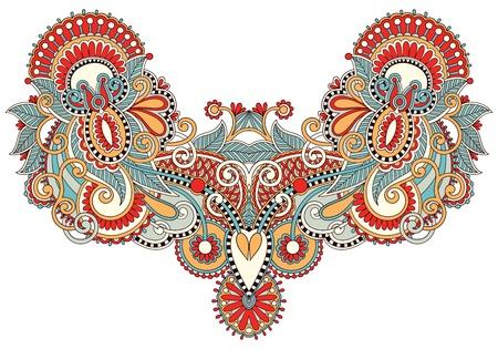 orient: Neckline embroidery fashion Illustration
