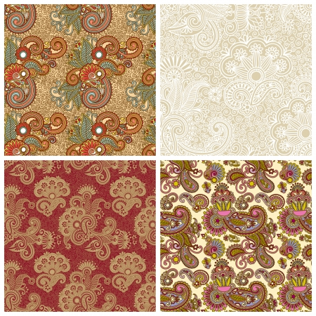 collection of seamless wallpaper Stock Vector - 15556190