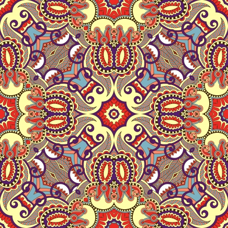 kerchief: Traditional ornamental floral paisley bandanna. Ornament seamless background. You can use this pattern in the design of carpet, shawl, pillow, cushion