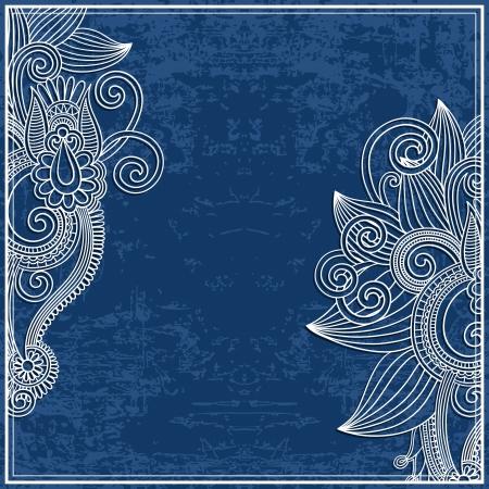 flower design on grunge background Stock Vector - 15556099