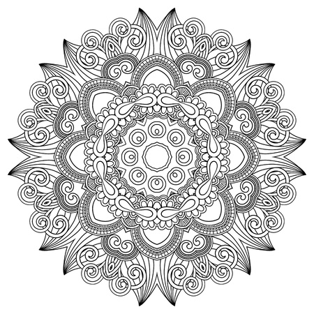 Circle ornament, ornamental round lace Stock Vector - 15556086