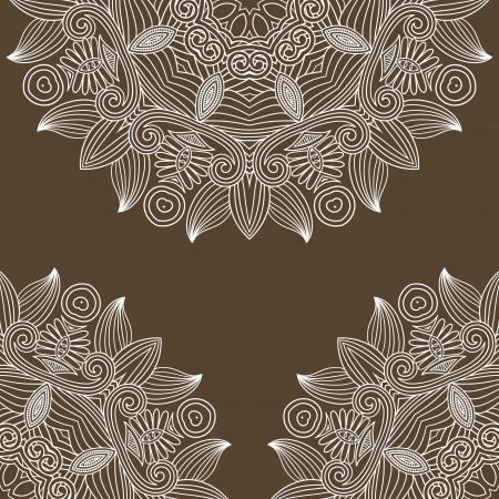 vendimia floral fondo ornamental, círculo elemento flor Ilustración de vector