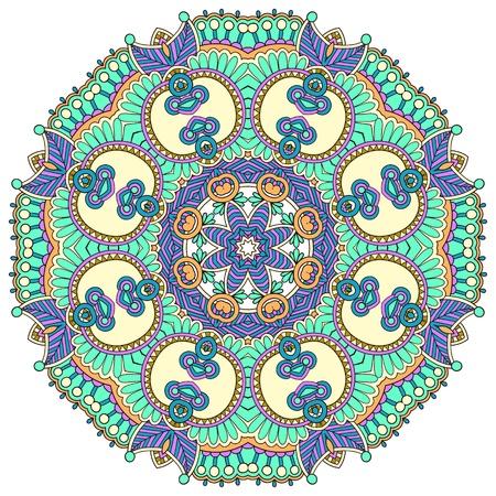 Circle flower ornament, ornamental round lace design Stock Vector - 15572891