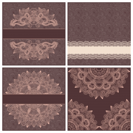 collection of ornamental floral vintage template Vector