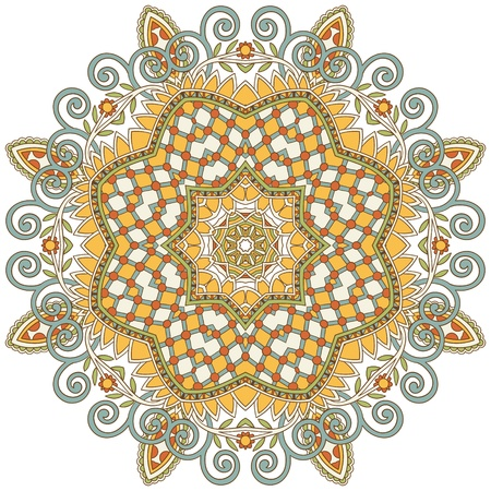 arabesque wallpaper: Circle ornament, ornamental round lace
