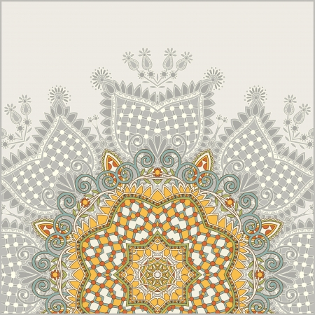 style: ornamental circle template with floral background