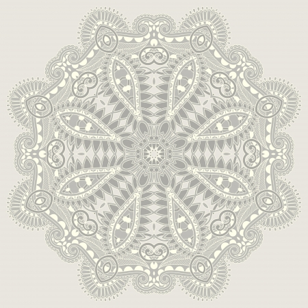 Circle ornament, ornamental round lace  Stock Vector - 16513820